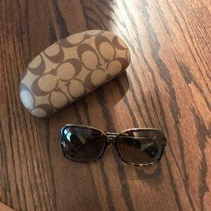 Coach Frances Tortoise Polarized Sunglasses